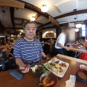 豚組しゃぶ庵、食べ放題ランチ。1,000円! #theta360