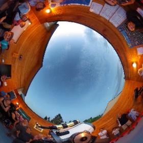 21 juillet 2018 - Pavillon d'astronomie Velan du Domaine St-Bernard de Tremblant Soirée spéciale sur Saturne où les visiteurs pouvaient photographier le seigneur des anneaux avec leur cellulaire.