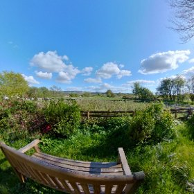 Station House garden and views over Cambrian Mountains and Cors Caron nature reserve. #theta360 #theta360uk