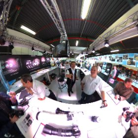 At the Pentax stand - Professional Imaging 2016 #theta360