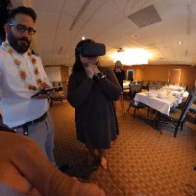 .@sleepingbianca watching INVASION! by @baobabvr. #theta360