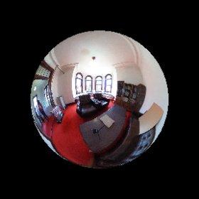 弘前学院大学外人宣教師館(国指定重要文化財) 八角形の応接室。 #theta360