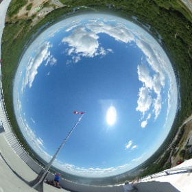 Top of the 1000 Islands Tower http://1000islandstower.com/ #theta360