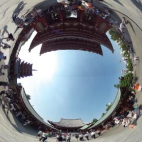 浅草寺(東京)  photo : 360度カメラ研究会(http://camera-360do.com/) by ほーりー