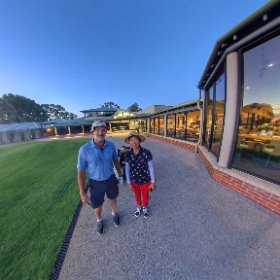 Phill and Ruby sunset at RPGC Royal Perth Golf Club, South Perth WA, private club with function hire options and great new member special offers  https://goo.gl/iUzmGg BEST HASHTAGS  #RPGC   #WAGolfClub  #VisitPerthWA  #SouthPerth #firefly3d #theta360