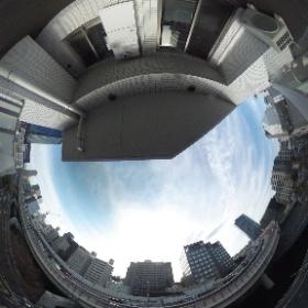 【デュオヴェール飯田橋】  ②西向き眺望 360°画像  東京都文京区後楽2-23-6  http://www.axel-home.com/009856.html   #theta360