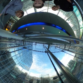 Small tour in the Brussels Proximus Tower :) #theta360