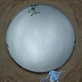 天気は良くないけど砂浜独り占めです。 #miku360 #theta360