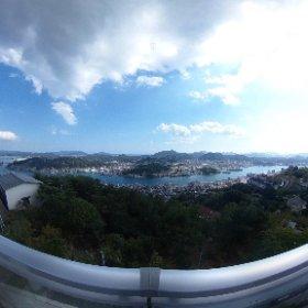千光寺公園展望台から、THETAで撮影。 #theta360
