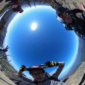 全天球登山部、縦走中!! #全天雲カメラ #FB登山部  #theta360
