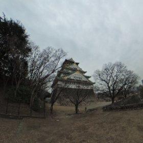 大阪城(思いっきり僕が写ってる) #theta360