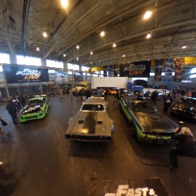 FAST & FURIOUS LIVE: Check out the biggest collection of super cars ever gathered together from Hollywood's Fast & Furious film franchise - stars of new world tour arena stunt show. #theta360 #theta360uk