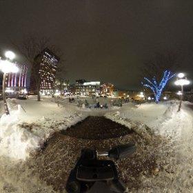 Place D'Youville à Québec. Je fais des tests avec ma nouvelle caméra 360 degrés! #theta360