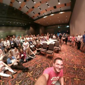 The whole #TCEA #makers group at #ISTE17! #theta360