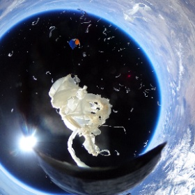 The balloon explodes, as planned, in the stratosphere on Feb. 27th.