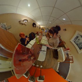 Galway Girls having Italian diner in La Colina #thevillagesalthill #craicingalway #galway360 #theta360 #theta360uk