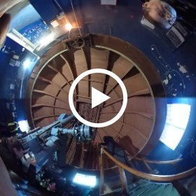 Mars Rover Day at Norman Lockyer Observatory - Parachute launching! #theta360