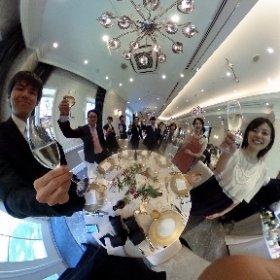 結婚式で乾杯シータ^_^