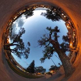 Title: Taos Plaza at Sunset Attribution: Mari Saegusa Notes: RICOH THETA SC, dim light conditions, auto settings