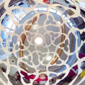 Nightingale Lampshade at Longhill School, Brighton. The view from inside! #theta360