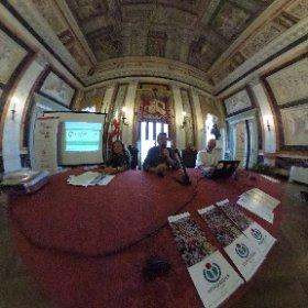 Presentazione #WLM2017 #Genova Palazzo Tursi #WikimediaItalia #OpenGenova #theta360it