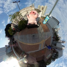 McDull, notorious pork, Hong Kong Avenue of Comic Stars #theta360