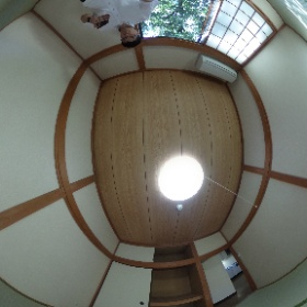 世田谷区深沢にあります「ノースヴィレッジ」1LDKアパートの和室6帖スペースです。寝室として。詳細はこちらhttp://www.futabafudousan.com/bukken/syousai/0/1022ssi.html #theta360