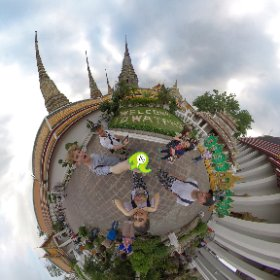 360 spherical Gee team brief visit to Wat Pho home of famous Reclining Buddha in old Bangkok city of Rattanakosin Island, our pics n vids  https://goo.gl/v8fcf7 BEST HASHTAGS  #WatPho  #RecliningBuddha #BkkCultural  #Butterfly3d #theta360