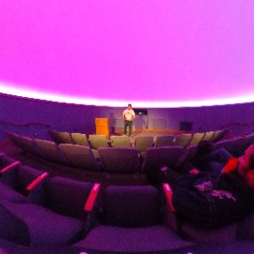 Scott Conner presiding over his last meeting as EAS President at the Evansville Museum. #theta360