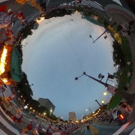 2016.8.6 北九州市わっしょい百万夏祭り 夏祭り大集合「小倉祇園太鼓」(2) #theta360