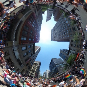 The NYPD march in the NYC Pride Parade 2016. #theta360