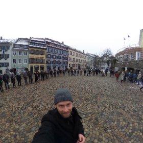 Pulse of Europe, 22.1.2017, Augustinerplatz. www.pulseofeurope.eu #theta360de