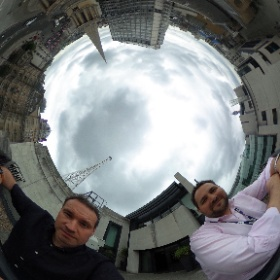 On the roof of the Beeb with @mrmattwade #theta360uk
