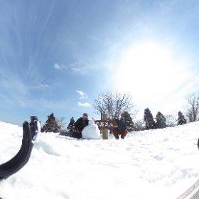 恐羅漢頂上でオヤジボーダー2人景色堪能。 #恐羅漢スノーパーク#絶景#スノボ #theta360