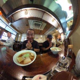 福島 喜多方ラーメン 支那そば やっちゃんち で一杯。  普通においしい。  #喜多方ラーメン #theta360