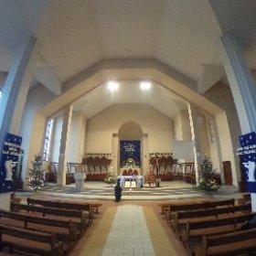Parafia Bożego Ciała w Suwałkach. Wnętrze świątyni. #theta360