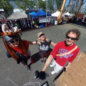 O Canada Day! Things are lookin up! #360vr #GranvilleIsland #Canada150 #theta360 #jazzfestvancouver #theta360