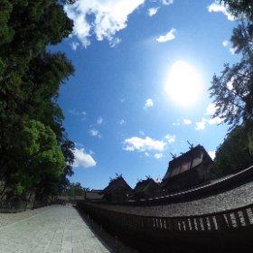 出雲大社 御本殿東側 VRでバイク旅 日本一周【49日目】http://www.merkurlicht.com #theta360