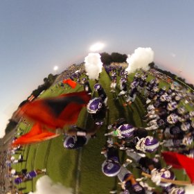 Gainesville High football takes the field. #GHS #canes #theta360
