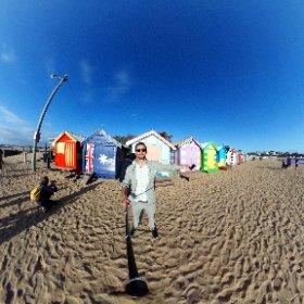 Brighton Beach in 360° #theta360 #theta360de