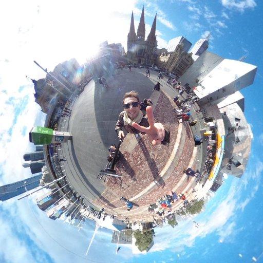 Der Federation square in Melbourne in 360°! Klick und dreh #druustory