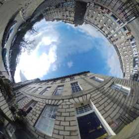 The bottom of India Street overlooking North West Circus Place #theta360