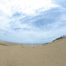 鳥取砂丘360度!でもブレちゃった VRでバイク旅 日本一周【50日目】http://www.merkurlicht.com #theta360