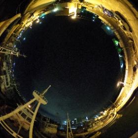 いかなご漁出港前の須磨漁港 #theta360