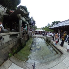 清水寺・音羽の滝 本堂は工事中。ある意味レアな状態を参拝できました。 #miku360  #theta360