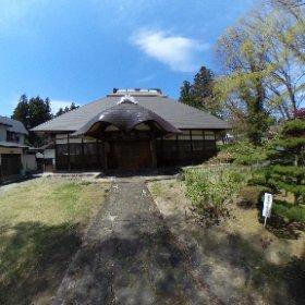 恵日寺です、桜は本堂裏にありましたが、うまく撮れませんでした(^^;; #theta360