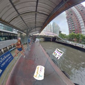 360 Spherical photo Pier ChitLom on Canal Saep Saep Bangkok is the 1st pier East of main interchange Pier Pratunam, from here it's a short walk to Night markets Talad Neon, SM hub https://goo.gl/PhymGF  #butterfly3d
