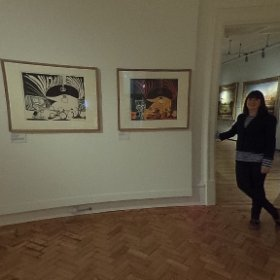 Picasso Exhibition: Linocuts from The British Museum at Barnsley's Cooper Art Gallery, in Church Street, until Saturday, April 29, 2017. #theta360 #theta360uk