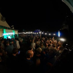 Galway International Arts Festival club captured busy tonight after the 2018 Caribou gig in the Big Top featured across the river Corrib | #galway360 #giaf2018 #firefly3d #craicingalway #caribou #virtualgalway #thisisgalway #theta360