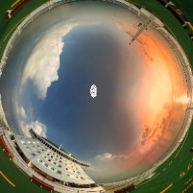 Voyager of the Sea - www.ansonchew.com #anson360 #Voyagerofthe Sea  #instatraveling #royalcaribbean  #royalty #sea #ship #ocean #rccl #royalcaribbeaninternational #caribbean#cruisingislife #enchantmentots #helipad #sunset  #theta360